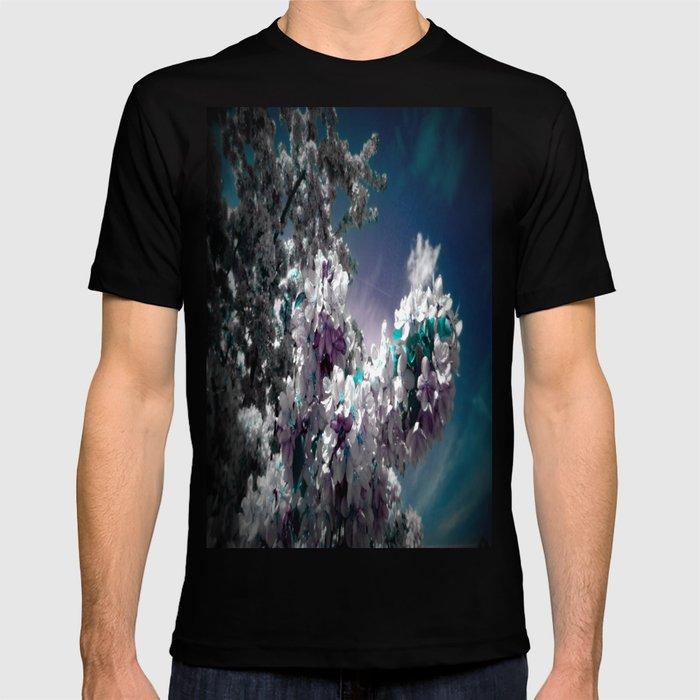 Flowers Purple & Teal T-shirt