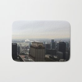 NYC West Side Panorama with Hudson River Bath Mat