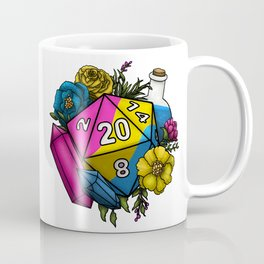 Pride Pansexual D20 Tabletop RPG Gaming Dice Coffee Mug