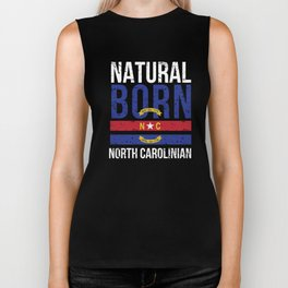NC North Carolina Native Gift for Home State Pride Residents from Charlotte, Raleigh, Greensboro Biker Tank