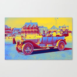 Winton Touring car with the wealth Autry Family of Texas on vacation at a resort beach int he East C Canvas Print