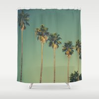 hollywood Shower Curtains featuring Hollywood Summer  by Amy J Smith Photography