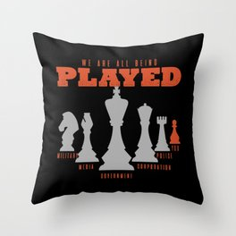 Chess, Chess Queen, Chess Bishop Throw Pillow