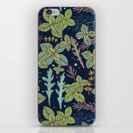 dark herbs pattern iPhone Skin