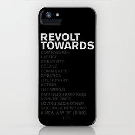 Revolt Towards (White) iPhone Case