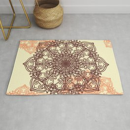 Ornamental lacy pattern Rug
