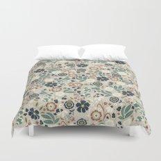 Flourishing Florals (Light-Green) Duvet Cover