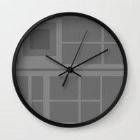 death star Wall Clocks featuring Star Wars - Death Star by Juan Martos