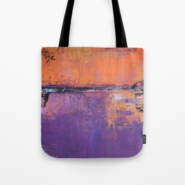 Poetic City - Urban Abstract Painting Tote Bag