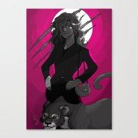 carmilla Canvas Prints featuring carmilla by lulu555