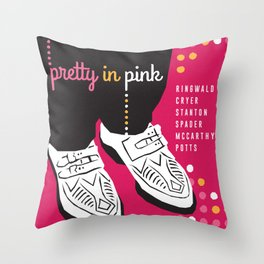80s TEEN MOVIES :: PRETTY IN PINK Throw Pillow