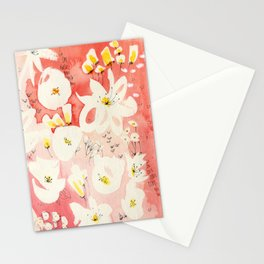 Spring Field in Crimson Peach Stationery Cards