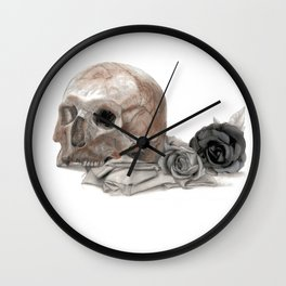 old sage's skull Wall Clock