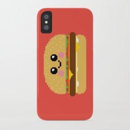Happy Pixel Hamburger iPhone Case