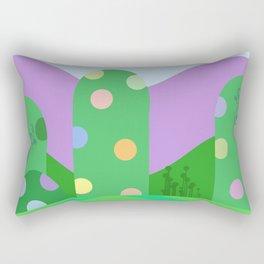 Cute landscape green  Rectangular Pillow