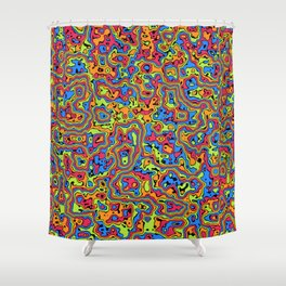 Liquid Summer Shower Curtain