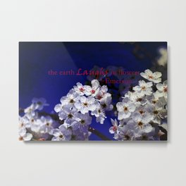The Earth Laughs in Flowers Metal Print