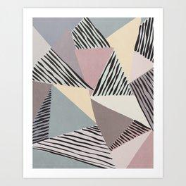 Modern irregular Stripes 03 Art Print