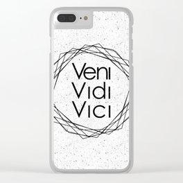 I Came I Saw I Conquered Veni Vidi Vici Clear iPhone Case