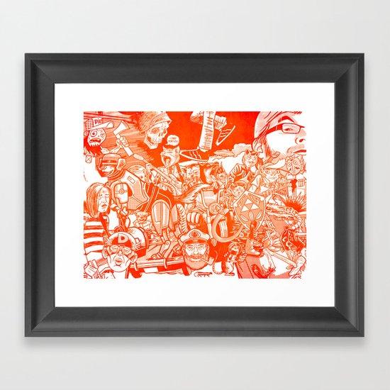 explosion! Framed Art Print