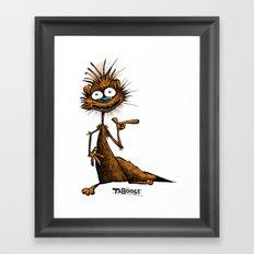 Taboose the Meerkat Framed Art Print