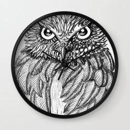 Fierce Owl Wall Clock