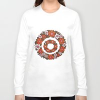 vintage flowers Long Sleeve T-shirts featuring vintage flowers by snorkdesign