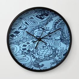 Hakuna Matata in Blue Wall Clock