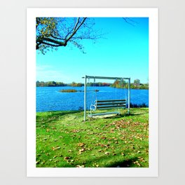 Swinging by the Lake Art Print