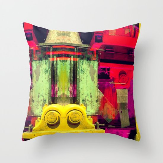 Industrial Abstract Twins Throw Pillow