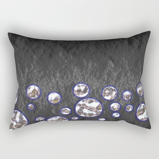 Asteroid Belt of Silver Moons Rectangular Pillow