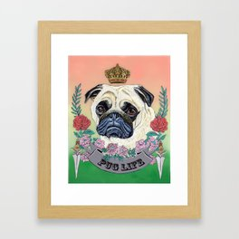 Pug Life Framed Art Print
