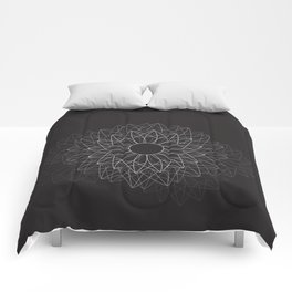 Spiral #abstract #dark Comforters