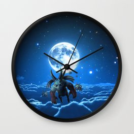 above the cloud Wall Clock