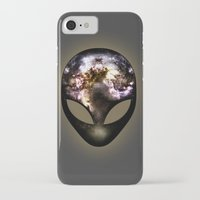 alien iPhone & iPod Cases featuring Alien by Spooky Dooky