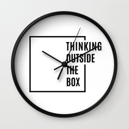 Thinking outside the box Wall Clock