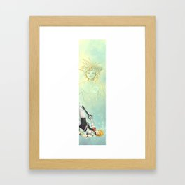 Dive into the heart... Framed Art Print