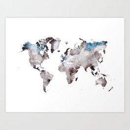 world map 73 Art Print
