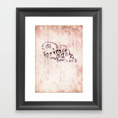 Of a certain age Framed Art Print