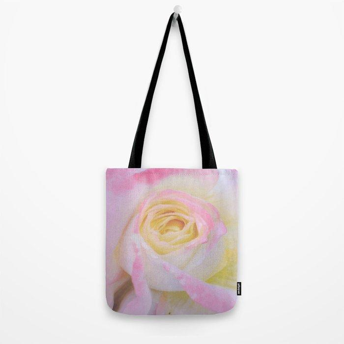 Pink Rose Vector Tote Bag