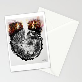 Burning Forest Stationery Cards