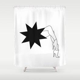 Stars Legs Shower Curtain