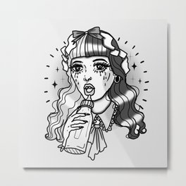 crying doll Metal Print