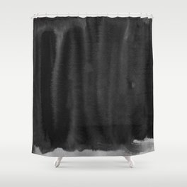 Black Ink Art No 5 Shower Curtain