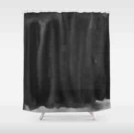 Black Ink Art No 5 Shower Curtain