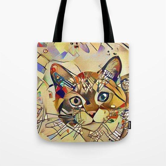 Cat Basil Tote Bag