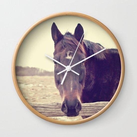 Hello Horse  Wall Clock