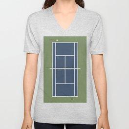 Tennis Court | Match Point  Unisex V-Neck