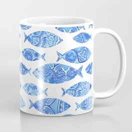 Folk watercolor fish pattern Coffee Mug