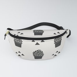 Stamped Potted Succulents Fanny Pack